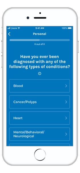 branded health history app